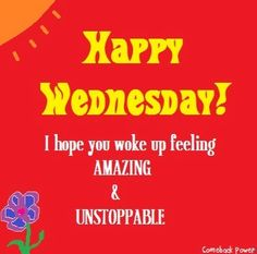 Happy Wednesday! via Comeback Power at www.Facebook.com/CancerDuckIt and www.ComebackPower.com