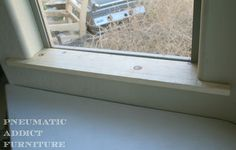 How to trim out a window with bullnose corners.