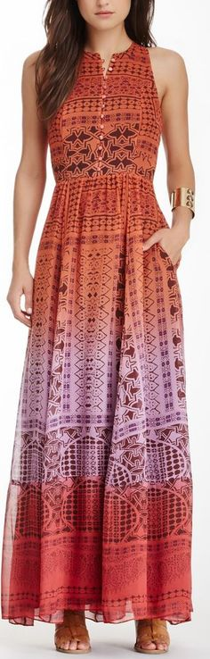 Image of Diane von Furstenberg Basmati Silk Dip-Dye Maxi Dress Mode Hippie, Mode Boho, Pretty Dresses, Beautiful Dresses, Casual Dress Outfits, Indian Designer Wear, Nordstrom Dresses, Indian Dresses, Dress Patterns