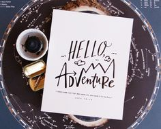 It'd make for a perfect first Lindsay Letters of my own! ✈️ Hello, Adventure Print #lindsaylettersshop...really like this! How creative! (: