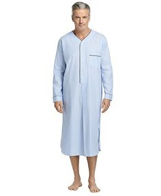 b84509e6c74b Blue Nightshirt Brooks Brothers Men