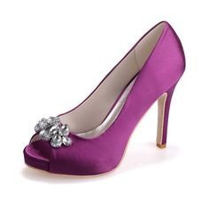 e20b6d8ea20 Amazon.com  Fashionmore Women s High Heels Wedding Pump Shoes Purple 4.5  US  Shoes