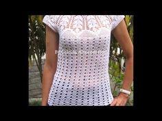 Blusas de diario tejidas a crochet para dama - YouTube