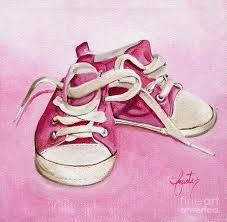 Children Baby Shoes Paintings