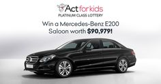 Have you ever dreamed of driving a luxury vehicle on some of Australia's best roads, while supporting a worthwhile and essential cause? Well, now is your chance! By simply buying a ticket in the latest Act For Kids Platinum Class Lottery draw, you could win a brand new Mercedes-Benz E200 Saloon