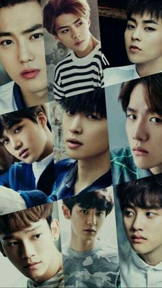 Exo-Suho, Sehun, Xiumin, Kai, Lay, Baekhyun, Chen, Chanyeol and D.O