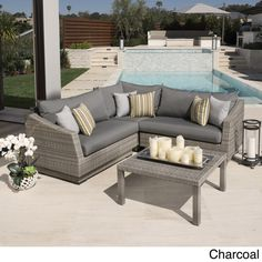 RST Brands Cannes 4-piece Patio Corner Sectional - Overstock Shopping - Big Discounts on RST Brands Sofas, Chairs & Sectionals