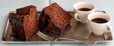 Duncan Hines Recipe - Chocolate Angel Food Cake with Espresso Glaze    #DuncanHines