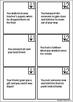 FHE idea: Manners Game Cards