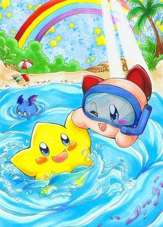 Stafy And Kirby Summerfun by *HisuiVirus.