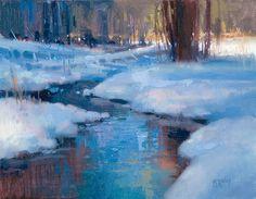 Snow Shadows by Richard McKinley Oil ~ 11 x 14