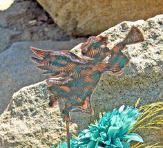 Angel Garden Stake / Metal Garden Art / Copper Art / Guardian Angel / Spiritual / Christian Decor / Religious Gift / Handmade / Sculpture