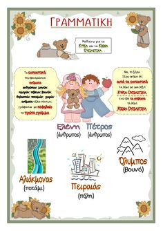τι βιβλίο είναι αυτό 4 Greek Language, Second Language, Early Education, Special Education, Learn Greek, Kids Corner, School Projects, Second Grade, Grammar