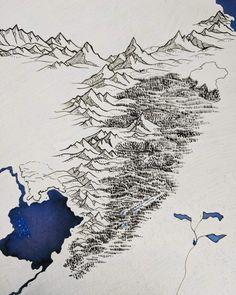 WiP Fantasy Map Making, Fantasy World Map, Fantasy Art, Art And Illustration, Graphic Design Illustration, Illustrations, Fantasy Tv Shows, Terra Nova, Rpg Map