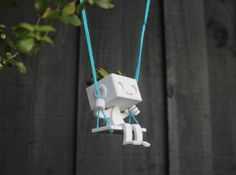 Hanging Planter Robbie the Robot Swing 3d printed