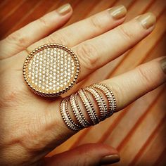 These rings by Carla Amorim are like tiny dots of gold and diamonds - we found this in Brazil.  #lovegold  #wanderlust