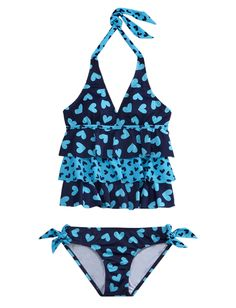 Girls Clothing | Tankinis | Turquoise Heart Tankini Swimsuit | Shop Justice