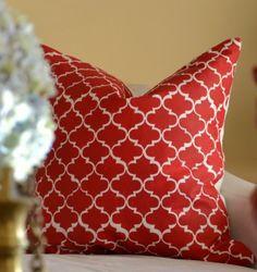 morocco stenciled throw pillow