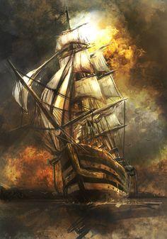 Wandering seafarers and pirate ships feel like adventure and exploration to me, feeling like a big shoulder tattoo