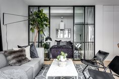 Gorgeous Studio Apartment Divider Decor Ideas And Remodel - - Apartment Living, Small Spaces, Interior, Small Apartment Room, Small Apartment Interior, Studio Apartment Divider, House Interior, Studio Apartment Decorating, Apartment Layout