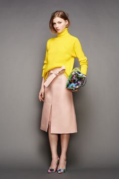 30 Little Style Lessons To Learn From J.Crew #refinery29  http://www.refinery29.com/2015/02/82440/jcrew-fall-ny-fashion-week-2015#slide-4  That side tuck! Show off a fun design element by only tucking in a specific part of your sweater.