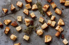 Rosemary Thyme Croutons - Powered by @ultimaterecipe