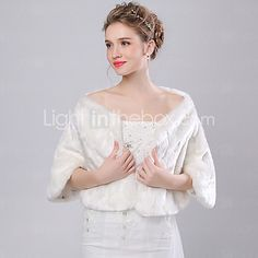Women's Wrap Shrugs Faux Fur / Imitation Cashmere Wedding Feathers / fur 2017 - $42.89