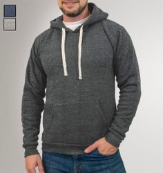 Triblend Hooded Pullover Made in the USA