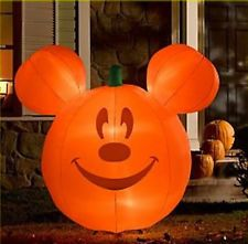 disney halloween pumpkin mickey mouse airblown inflatable lawn dcor
