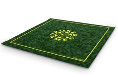 Tapis de poker Morize 75x75 (vert) - Pokeo.fr - Tapis de jeu haut de gamme Morize Chavet antidérapant en suédine verte 75x75cm.