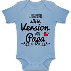 lustiger Babybody Füttern du mich jetzt musst Spruch Motiv Geburt Geschenk Papa