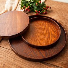 Wood Serving Tray Round Serving Tray Wooden Plate Tea Food Server Dishes Water Drink Platter Round Wooden Tray, Wooden Serving Trays, Wooden Plates, Wooden Bowls, Tray Styling, Food Platters, Wooden Kitchen, Natural Wood, Bamboo