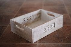 Whitewashed Wood Crate | Picsie Props