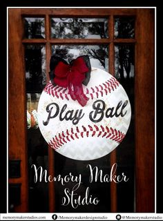 Hey, I found this really awesome Etsy listing at https://www.etsy.com/listing/226079195/personalized-baseball-door-hanger-made