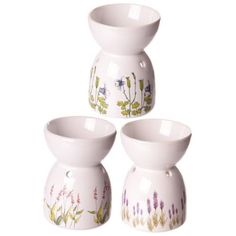 Shop today for Decorative Floral Printed White Ceramic Oil Burner by weeabootique !
