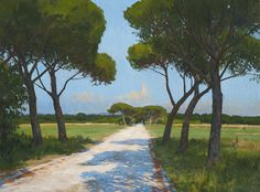 Marc Dalessio (1972-….), The Beach Road at Palone, 2012, 90 x 110 cm, huile sur toile.