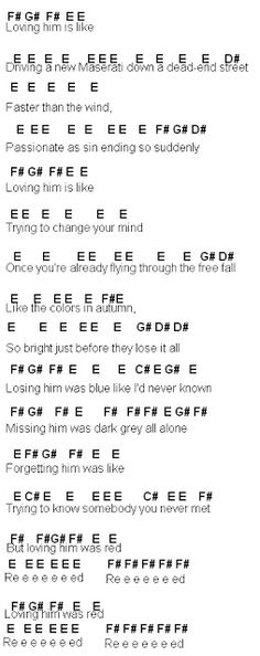 Flute Sheet Music: Red