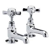 Ultra Traditional Beaumont Long Nose Bath Taps - Chrome - I322XE