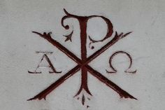 """Used to want a tattoo with """"alpha and omega"""". This says """"Chi Rho"""" (Jesus Christ- The X and P letters) and """"Alpha Omega"""". Pretty sweet, but I don't think I""""m brave enough for needles, or anything permanent! Alpha Omega Tattoo, Chi Rho Tattoo, Omega Alpha, 1 Tattoo, Symbol Tattoos, Tatoo Art, Greek Symbol Tattoo, Future Tattoos, New Tattoos"""