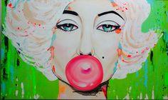 Merilyn Monroe Chiclete Pintura tinta acrilica