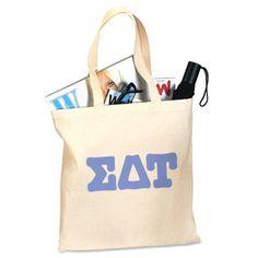 Sigma Delta Tau Sorority Printed Budget Tote #Greek #Sorority #Clothing #SDT #SigmaDeltaTau #SigDelt #ToteBag