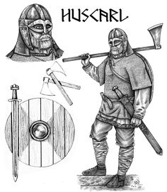 Huscarl - Medieval for Anglo-Saxon butt kicker. -(just loved the caption that went with this! -loving my Calontir! Viking Armor, Viking Men, Viking Shield, Viking Life, Viking Culture, Viking Clothing, Early Middle Ages, Norse Vikings, Anglo Saxon