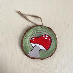 Rustic mushroom Christmas ornament | Etsy Christmas Medley, Christmas Ornaments, Mushroom Crafts, Happy Friends, Different Shapes, Little Red, Craft Supplies, Stencils, Stuffed Mushrooms