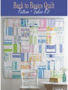 Back to Basics Quilt Pattern + Fabric Kit   InterweaveStore.com