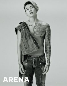 Jay Park shows off his tattooed body in 'Arena' | allkpop