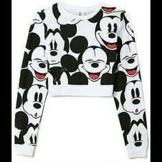 Disney Mickey Mouse long sleeve crop top Good condition Worn a few times Trades not accepted Offers are welcome Forever 21 Tops Crop Tops
