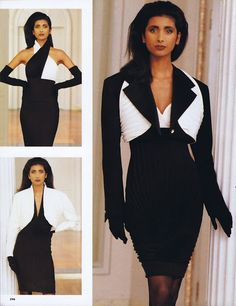 Gianni Versace Fashion s/s 1989 feat Anjani
