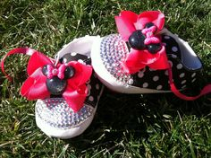 MINNIE MOUSE Inspired SHOES  Minnie Mouse Birthday by SparkleToes3, $39.99