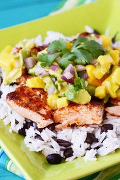 This ain't Gramma's frozen tuna casserole! This freezer-meal-salmon gets a tropical makeover with a mango and avocado salsa.