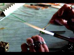 blown (hollow) glass bead - YouTube